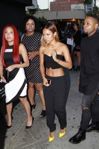 Karrueche Tran, model and ex-girlfriend of Rapper Chris Brown heads into an event for 'Bring Back Our Girls' in Los Angeles